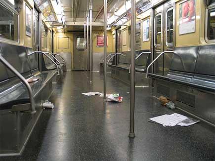 Subway trash