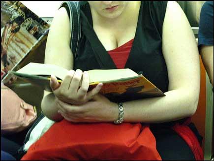 Harry Potter subway reader