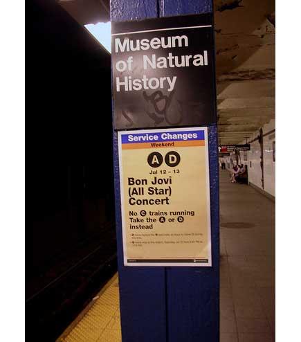 Bon Jovi Subway Sign