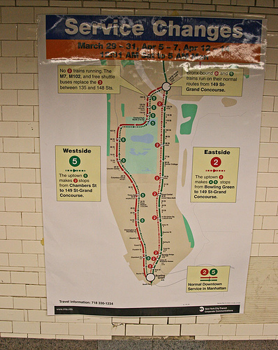 Subway Changes Map